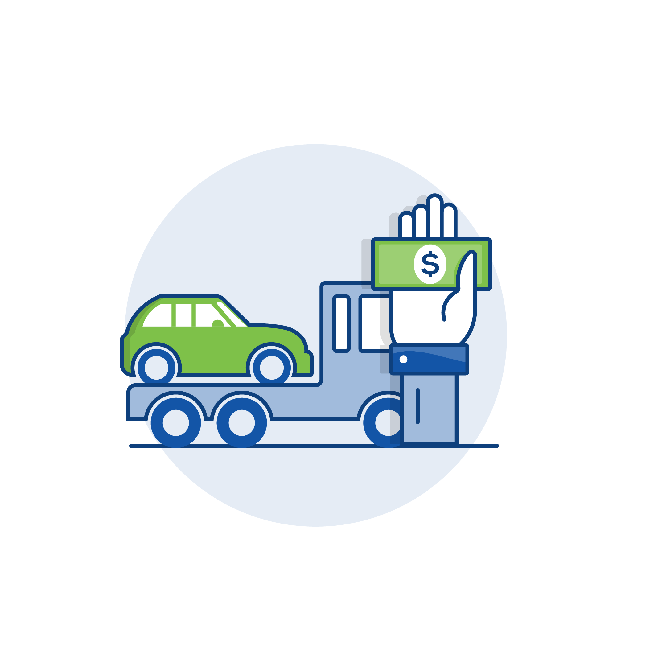 Auto verkaufen und Transportieren